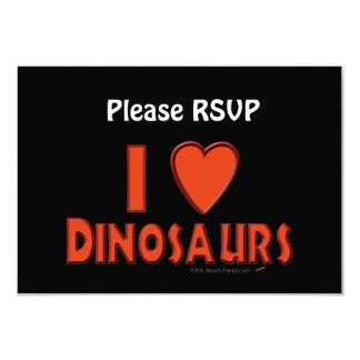 I Love (I Heart) Dinosaurs Dinosaur Lover Red Card