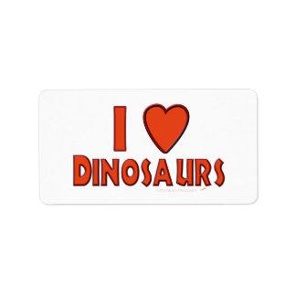 I Love (I Heart) Dinosaurs Dinosaur Lover Red Label