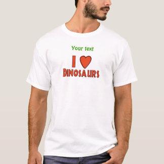I Love (I Heart) Dinosaurs Dinosaur Lover Red T-Shirt