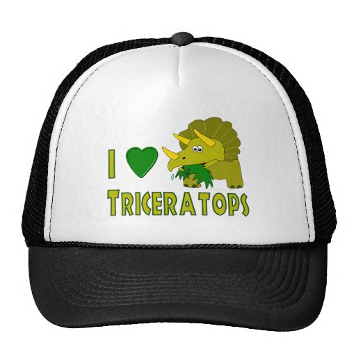 I Love (I Heart) Triceratops Cute Dinosaur Trucker Hat