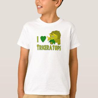 I Love (I Heart) Triceratops Cute Dinosaur T-Shirt