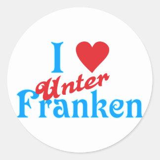 I love I love Lower Franconia Classic Round Sticker