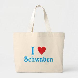 I love I love Swabians Canvas Bag