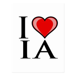 I Love IA - IOWA Postcard