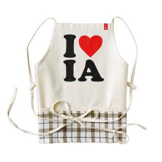 I LOVE IA ZAZZLE HEART APRON