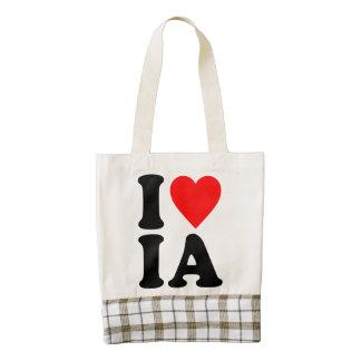 I LOVE IA ZAZZLE HEART TOTE BAG