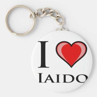 I Love Iaido Basic Round Button Keychain