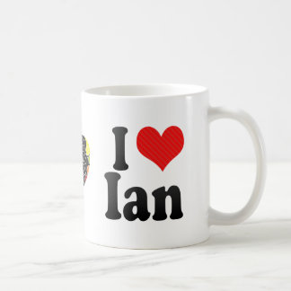 I Love Ian Coffee Mug