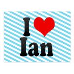 I love Ian Post Card