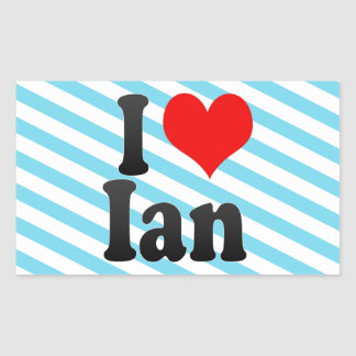 I love Ian Rectangular Sticker