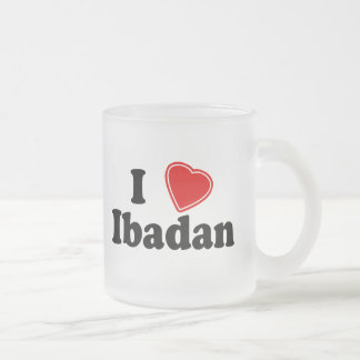I Love Ibadan 10 Oz Frosted Glass Coffee Mug