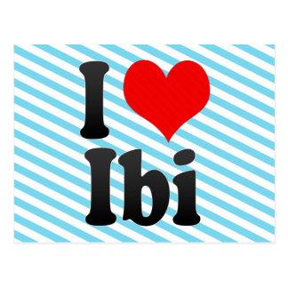 I Love Ibi, Spain Postcard