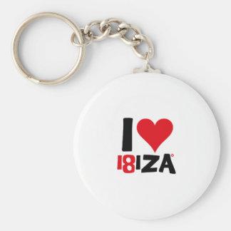 I love Ibiza 18IZA Special Edition 2018 Keychain