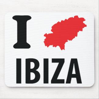 I love Ibiza contour icon Mouse Pad