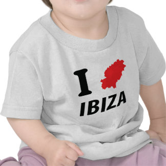 I love Ibiza contour icon Tees