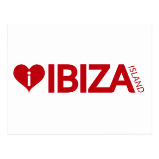 i Love Ibiza Island Original Authentic souvenirs Postcard