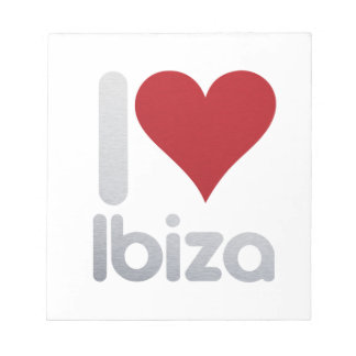 I LOVE IBIZA NOTEPAD