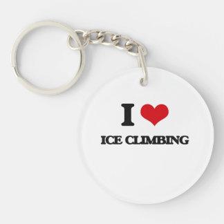 I Love Ice Climbing Single-Sided Round Acrylic Keychain