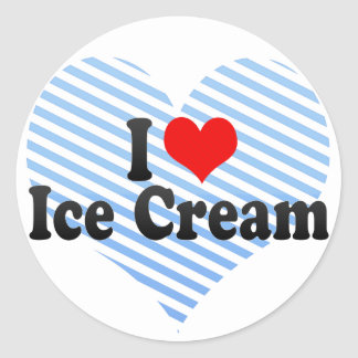 I Love Ice Cream Classic Round Sticker