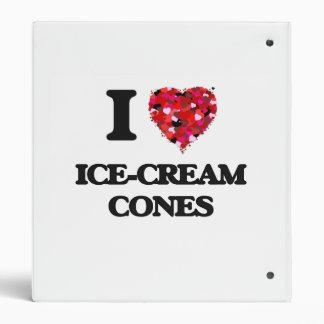 I Love Ice-Cream Cones Binder