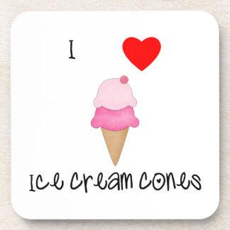 I love ice cream cones drink coaster