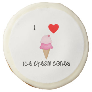 I love ice cream cones sugar cookie