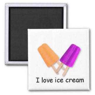 I love ice cream Orange and Purple Twin Pop Magnet