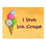 I love Ice Cream Post Card