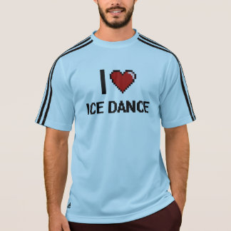 I Love Ice Dance Digital Retro Design T Shirts