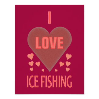 I Love Ice Fishing Card