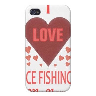 I Love Ice Fishing Case For iPhone 4