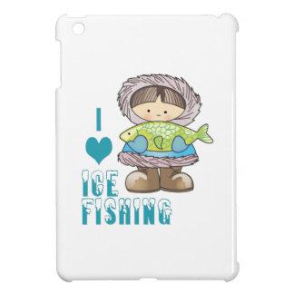 I Love Ice Fishing iPad Mini Cases