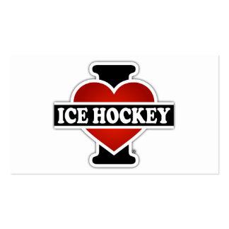 I Love Ice Hockey Business Card