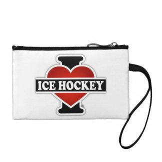 I Love Ice Hockey Coin Wallet