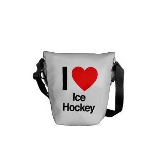 i love ice hockey courier bag