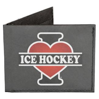 I Love Ice Hockey Billfold Wallet
