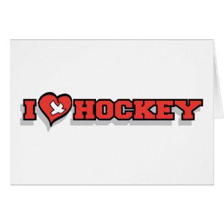 I Love Ice Hockey - Heart Card