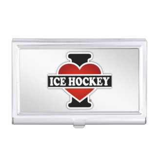 I Love Ice Hockey Case For Business Cards
