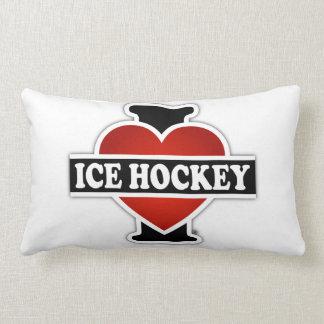 I Love Ice Hockey Throw Pillows