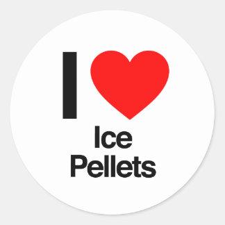 i love ice pellets classic round sticker
