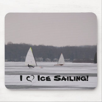 I love Ice Sailing! mousepad