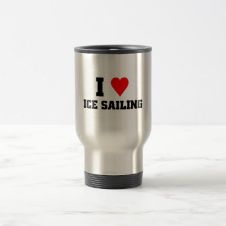 I love Ice sailing Travel Mug
