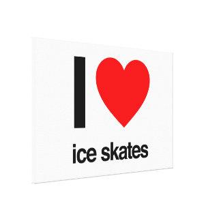 i love ice skates canvas prints