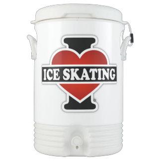 I Love Ice Skating Beverage Cooler