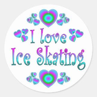 I Love Ice Skating Classic Round Sticker