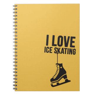 I Love Ice Skating ( figure skating ) Spiral Notebooks