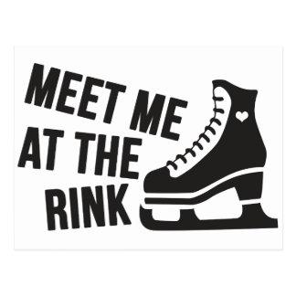 I Love Ice Skating ( figure skating ) Postcard