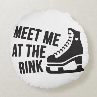 I Love Ice Skating ( figure skating ) Round Pillow