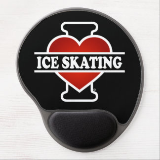 I Love Ice Skating Gel Mouse Pad