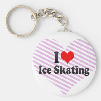I love Ice Skating Key Chains